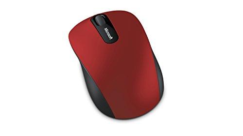 Microsoft - Bluetooth Mobile Mouse 3600 - Souris Bluetooth pour PC, ordinateurs portables compatible Windows, Mac, Chrome OS - Rouge (PN7-00014)
