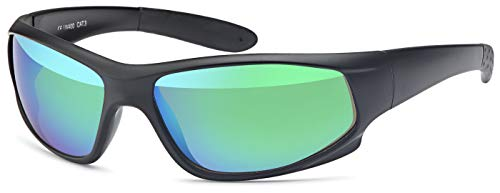 Sportbrille Fahrradbrille Laufbrille Laufen Angeln Golf Sport Brille Skibrille Ski fahren Sonnenbrille für Herren und Damen Outdoor (Black-Ice)