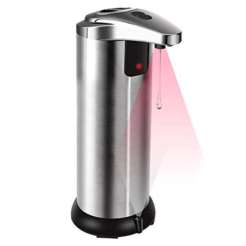 InnerSetting Dispenser per Sapone Liquido, 250ml, in Acciaio Inox sensore Automatico Intelligente touchless Sanitizer Dispenser Contenitore per Cucina Bagno, Soap Bottle-A