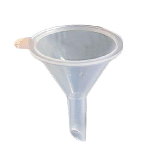 Dosige 3 stuks trechter van kunststof, kleine flesjes, parfum, cosmetica, verpakking, kleine gereedschappen, driehoekige trechter