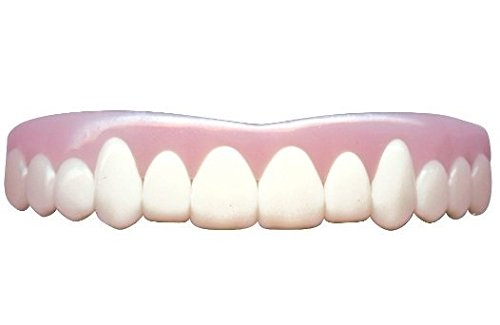 Imako Cosmetic Teeth for Women 1 Pack. (Small, Bleached) Uppers Only- Arrives Flat. Fit at Home Do it Yourself Smile Makeover
