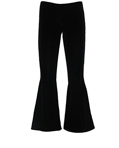 Gothic Velvet Flare Bottom Broek (L/XL) Zwart