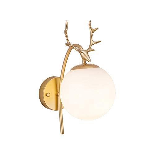 Luxe achtergrond wandlamp Nordic postmodern woonkamer luxe achtergrond lamp muur persoonlijkheid eenvoudige Deer Head creatieve slaapkamer bedlampje