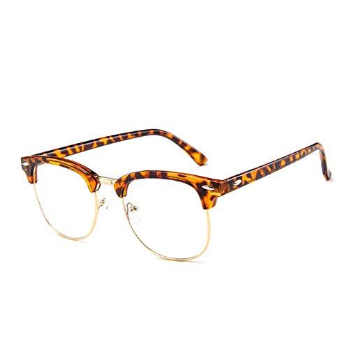 NJJX Gafas Ópticas ConMonturaMetálica Para Mujer, Gafas DeEspejoVintage Para Mujer,Montura De Gafas De Sol, Gafas De Sol Con Espejo Plano, Ámbar Gris