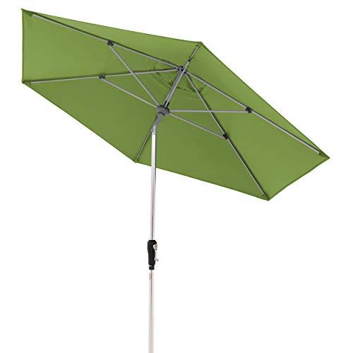 Doppler 425456836AZ Aluminium Crank Umbrella SL-AZ 275, Knickbarer Sonnenschirm für Balkon oder Terrasse, Regenabweisend, Fresh Green, 275 cm