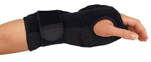 Mueller Night Support Wrist Brace, Black, One Size Fits Most | Wrist Brace for Sleeping