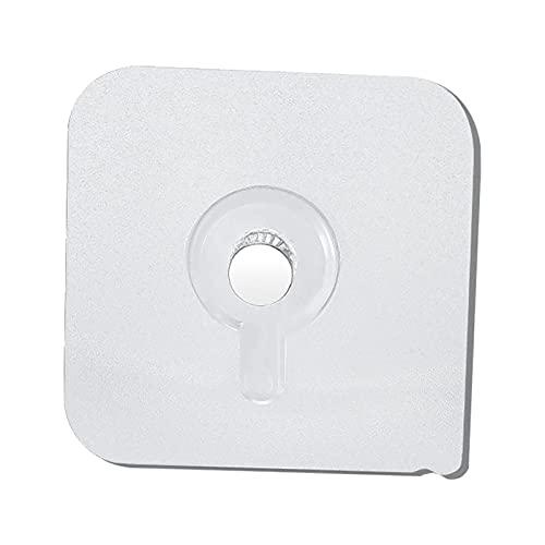 GeKLok Ganchos adhesivos, 10 unidades para colgar en el hogar, ganchos adhesivos de plástico, duraderos y autoadhesivos, para sala de estar, oficina (tamaño: 3)