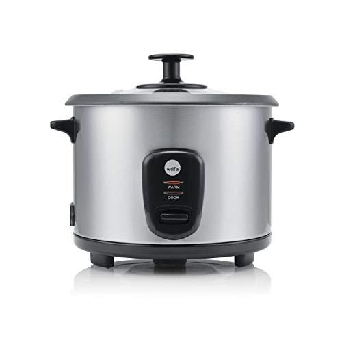 Wilfa INARI Reiskocher - 1 Liter Fassungsvermögen, 500 Watt, Antihaft-Beschichtung für einfache Reinigung, silber