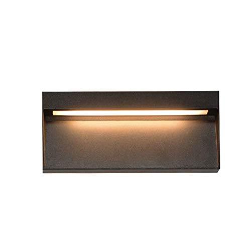 xgfqb 6W LED Rechteckige Eckwandleuchte Kreative Nachttischleuchte für den Außenbereich 6W