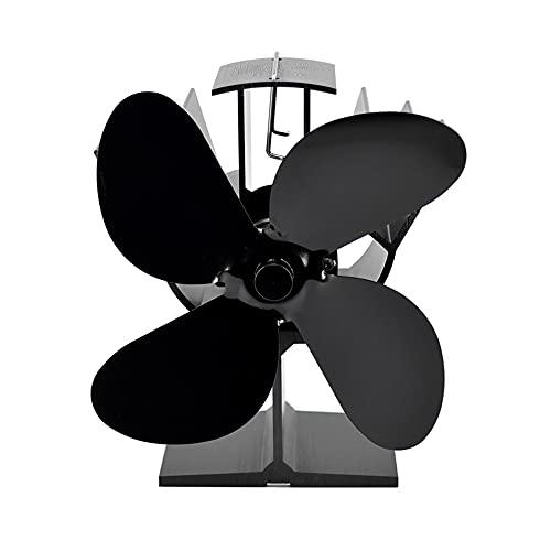 Daseey Ventilador de fogão movido a calor de 4 lâminas Ventiladores de lareira termodinâmicos para queimador de toras de madeira Distribuição de calor ecológica silenciosa