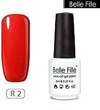 DORLIONA Red Color Home UV Nail varnishes Gel Manicure Vampire Blood Nail Art for Bridal Makeup Wine red fingernail Polish