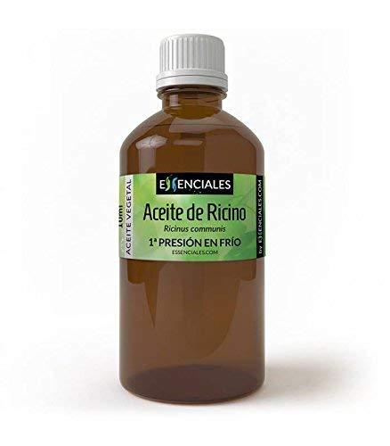Essenciales - Aceite Vegetal de Ricino (Máxima Calidad), 100% PURO, 100 ml   Aceite Vegetal Ricinus Communis, 1º Presión en Frío