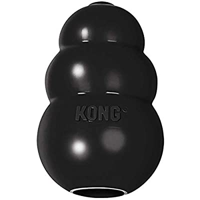 KONG - Extreme Dog Toy - Toughest Natural Rubber, Black - Fun to Chew, Chase and Fetch - for Large Dogs from KONG