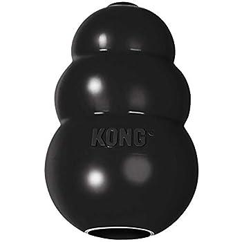 KONG - Extreme Dog Toy - Caoutchouc Naturel Robuste, Noir - Jouet à Mordre, Chasser et Rapporter - pour Chien Grande Taille