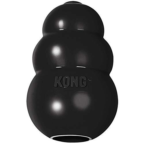 KONG - Extreme - Juguete de Robusto Caucho Natural Negro - para morder, perseguir o Buscar - para Perros Pequeños