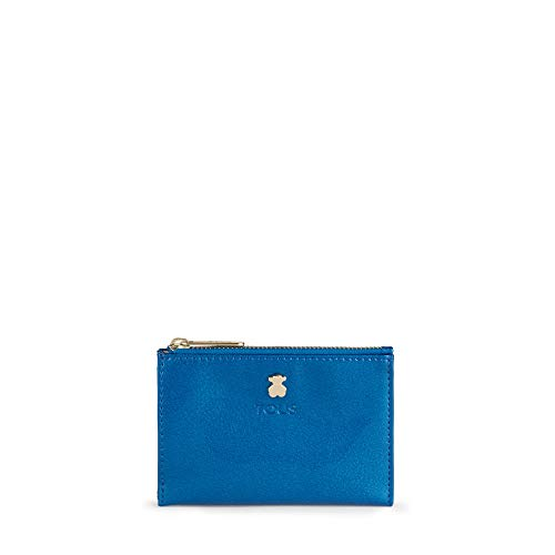Tous Dorp - Monedero para Mujer, Azul, 11.5 x 8 x 1 cm