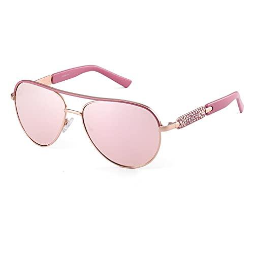 BAJIE Gafas De Sol Gafas De Sol Mujer Piloto Piloto Diseño Tono Rosa Espejo Gafas De Sol De Moda Oculos De Grau Feminino
