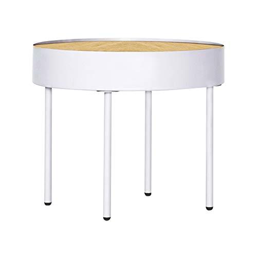 LICHUAN Mesa de centro pequeña mesa de café Mesa de café con marco de metal Mesitas de noche pequeña mesa de noche MDF Mesa lateral Mesa de estar
