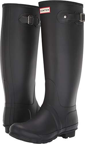 HUNTER Original Tall Wide Leg Rain Boots Black 7