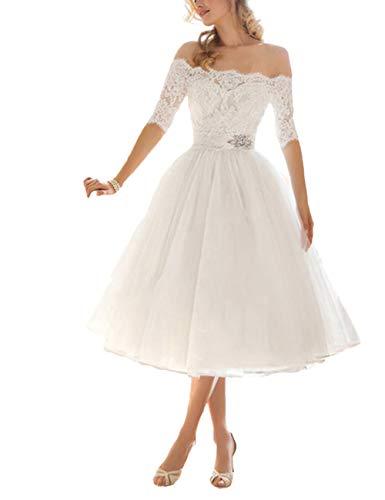 VKStar® Retro 50er Damen Abendkleid Stoffdruck ärmelloses Cocktailkleid mit Gürtel Rockabilly Swing Kleid Weiß L