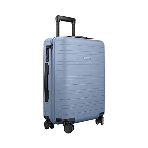 HORIZN STUDIOS Carry On Suitcase | Cabin Luggage Model H | 55 cm, 35 L, 4 Wheels, Lightweight Hard Shell Hand Luggage with TSA Lock (Blue Vega)