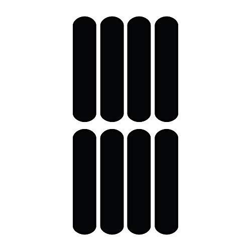 Mygoodprice - Lote de adhesivos reflectantes para cascos de moto, 9 x 2 cm, color negro