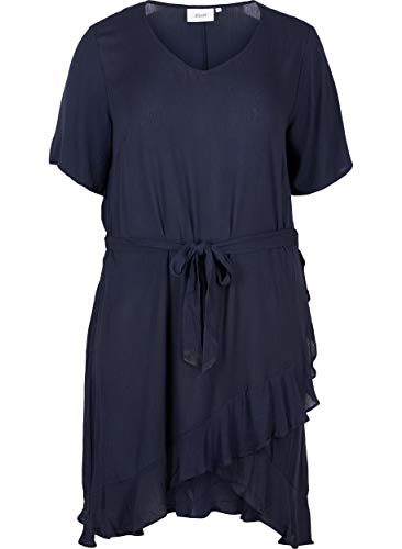 Zizzi Casual Kleider Vestito, Blu (Night Sky 1496), X-Large (Taglia Produttore: XL 54/56) Donna
