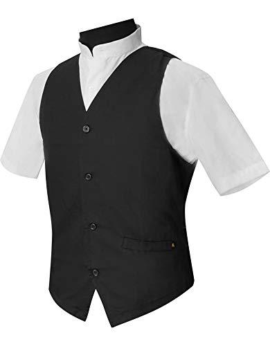 MUNDDY - Uniforme Camarero Camarera Chaleco Caballero Mujer para Bar Restaurante con Botones (para Hombre con Elástico, 60)
