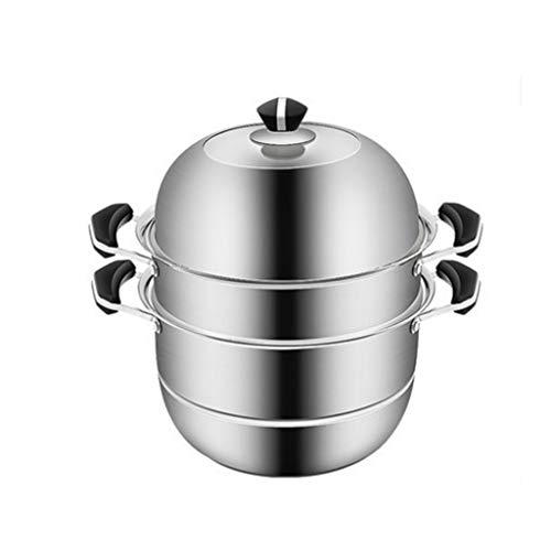 MHTCJ Acero Inoxidable Vapor Fogón de Gas del hogar Espesado Sopa de Olla con Vapor Vapor