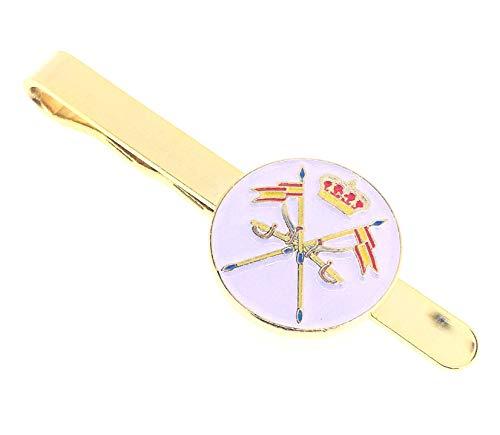 Gemelolandia Pasador de Corbata Emblema del Arma de Caballería Versión Coronada Color   Pisa Corbatas Para usar en Bodas y en Eventos formales   Da un toque Elegante