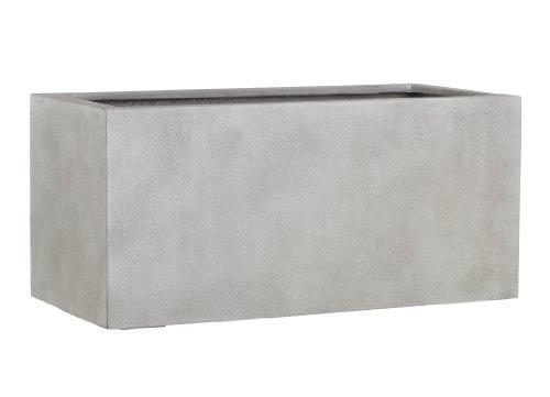 Esteras 8519715757 Naturelite Gillingham 57 Warm Concrete rectangular planter, 57 x 27 x 27 cm, 35 litres