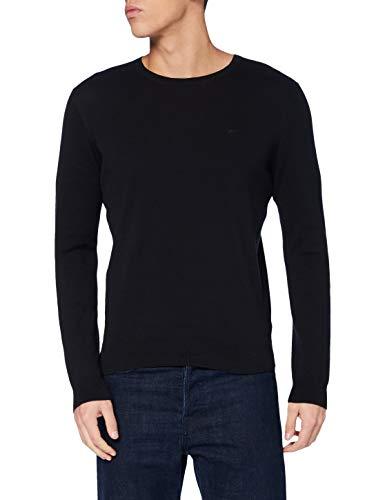 MUSTANG Herren Emil C Basic Pullover, schwarz, L