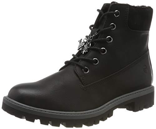 Tamaris Damen 1-1-25283-23 Combat Boots, Schwarz (Black 1), 40 EU