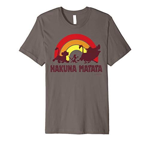 Disney The Lion King Sunset Hakuna Matata Line Up Premium T-Shirt