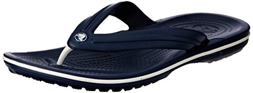 Crocs Crocband Flip Flop, Navy, Men's 8, Women's 10 Medium