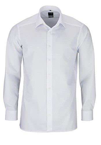 OLYMP Slim Hemd Langarm m Long Kent Kragen [Textilien], weiss, L (42)