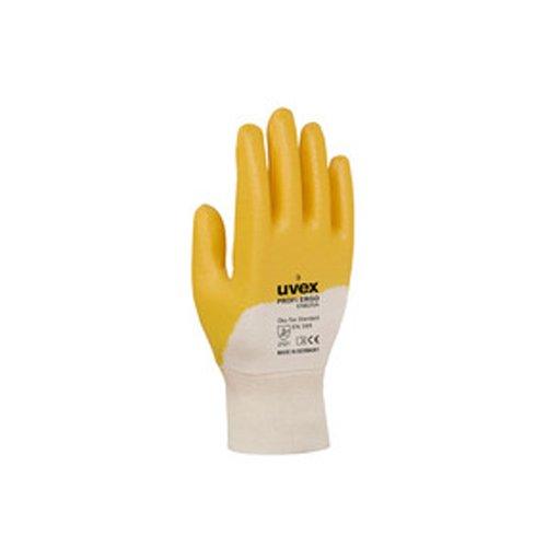 Uvex 601487Profi Ergo enb20Sicherheit Handschuh, Größe: 7, Weiß, Orange