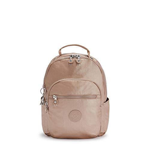 Kipling Women's Seoul Backpack, Rose Gold Metallic, 10'L x 13.75'H 4.5'D