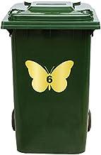 Kliko Sticker/Vuilnisbak Sticker - Vlinder - Nummer 6-14x21 - Goud