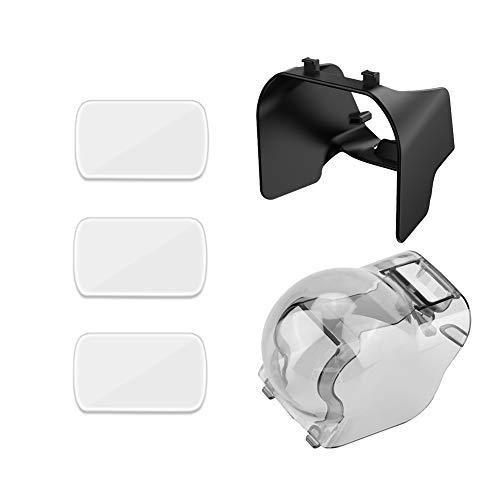 iEago RC Objektivabdeckung + Bildschirmhaube + Linsen Gehärteter Film Zubehör für kardanischen Kardanschutz für DJI Mavic Air 2