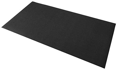 BalanceFrom Go Fit High Density Treadmill Exercise Bike Equipment Mat (2.5-Feet x 5-Feet) Black