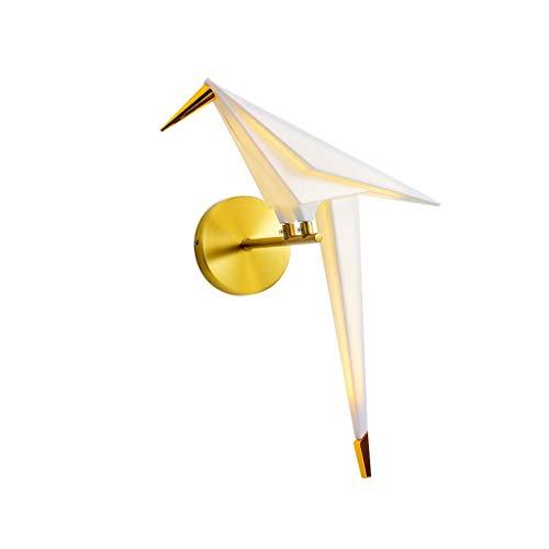 luz de Pared Lámpara de Pared LED Art Thousand Paper Crane Deco Luz de Pared Pantalla de acrílico Origami Light Dormitorio Sala de Estar Lámparas de Noche lámpara de Pared (Color : Gold)