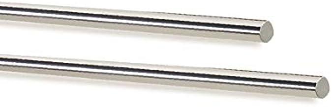 Gladde of ronde goot van roestvrij staal AISI 316 hoogglans gepolijst - buiten Ø 12 mm, lengte 3000 mm
