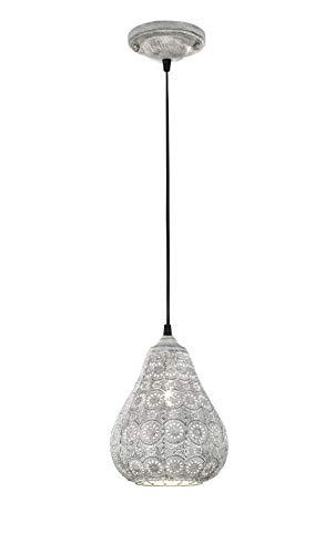 Trio Leuchten LED Pendelleuchte Jasmin 303700161, Metall grau antik, exkl. 1x E14