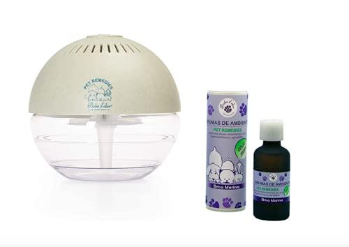 Boles d'Olor Brumizador Esencias para Eliminar Olores de Mascotas. Difusor de Aceites Esenciales. 400 ml con Bruma Brisa Marina 50 ml