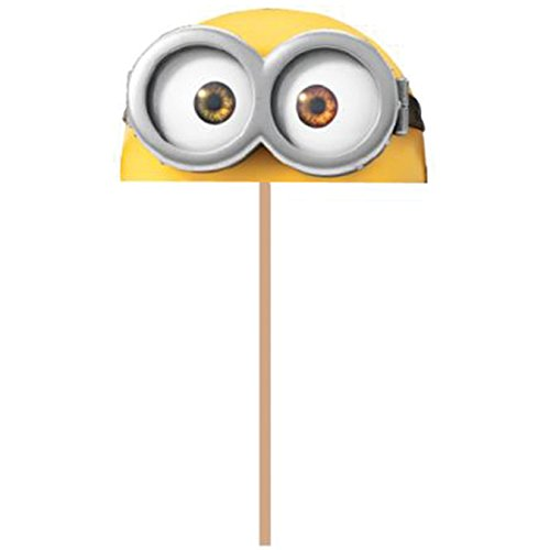 New Wilton 2113-4600 Despicable Me Minions Fun Pix Cupcake Toppers, Pack of 18, Yellow