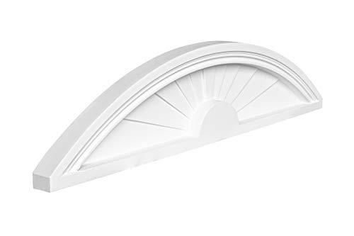 Bekrönung | schlagfestes Polyurethane | geeignet für Türen und Schränke | Ziergiebel | Pediment | weiß | PU | Hexim Perfect | 230 x 1015 mm | D2505