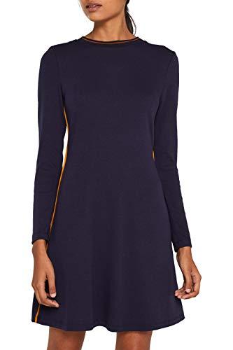 edc by ESPRIT Damen 109CC1E031 Kleid, Blau (Navy 400), Small (Herstellergröße: S)