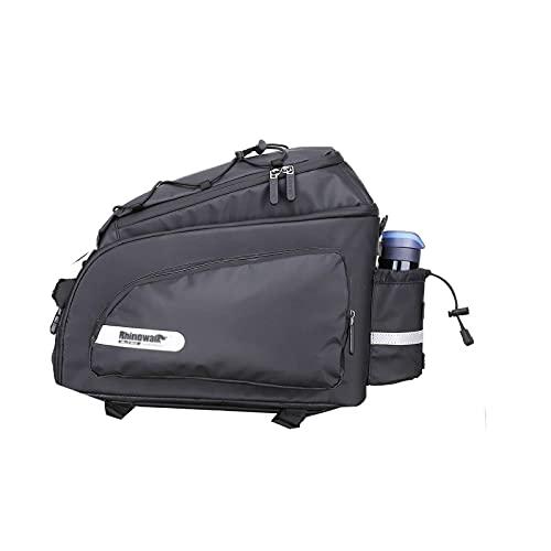BUMSIEMO Bolsa impermeable para asiento trasero de bicicleta de montaña de carretera de bicicleta bolsa de maletero negro