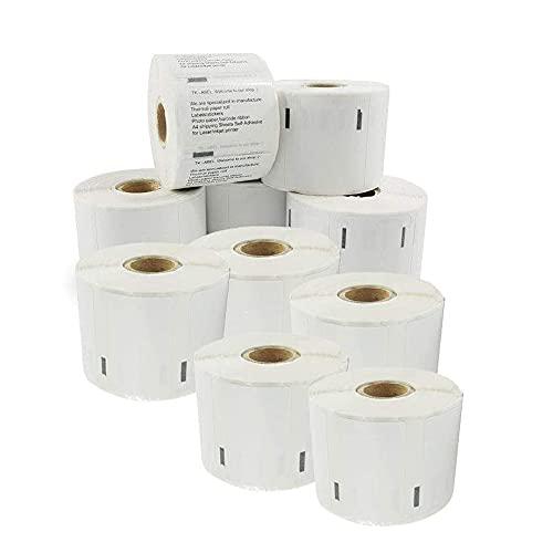 etichette multiuso autoadesive compatibili per Dymo LabelWriter DM 11354 S0722540 57 x 32 mm (1000 pezzi a rotolo) 10 Rotoli
